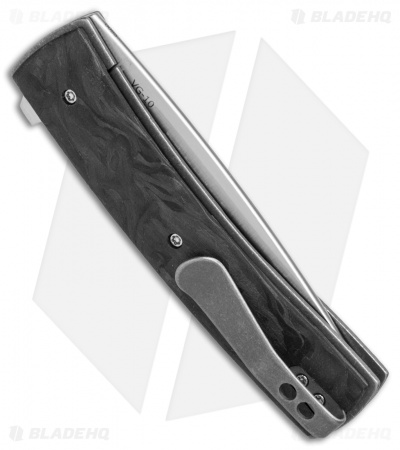 "Boker Plus Zinker FR Flipper Knife Marbled Carbon Fiber (2.8"" Satin) 01BO746"