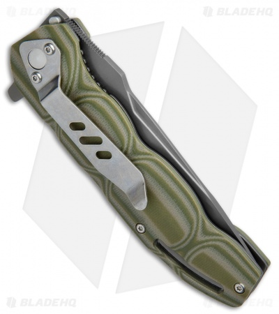 "Boker Magnum Leader Liner Lock Knife OD Green G-10 (3.75"" Gray) 01MB702"