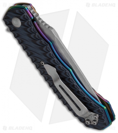 "Boker Magnum Rainbow Flipper Knife Black G-10 (3.4"" Satin) 01SC107"