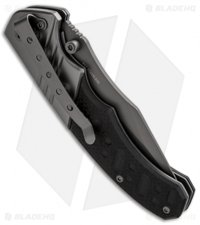 "Boker Magnum Folding Bowie Liner Lock Knife (3.35"" Gray) 01SC017"