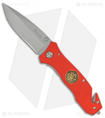 "Boker Magnum To Serve & Protect Fire Dept Lock Knife (4.75"" Satin)"