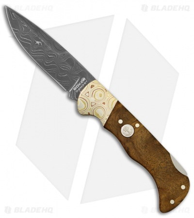 Boker Mokume Damascus Lock Back Knife Imbuia Wood (3.125 Damascus) 110144DAM