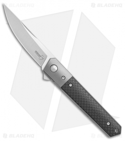 "Boker Mini Kwaiken Exclusive Tuxedo Flipper Knife CF/Titanium (3"" Satin VG-10)"