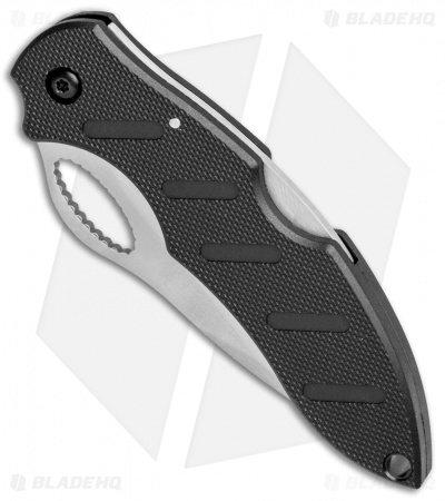 "Boker Plus Action R Lockback Knife Black G-10 (3"" Satin Serr) 01BO094"