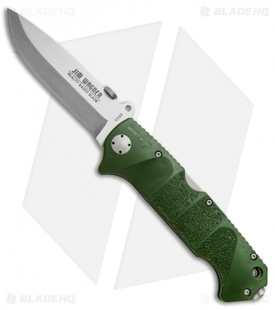 "Boker Plus Jim Wagner RBB Lockback Knife Green (3.875"" Satin) 01BO063"