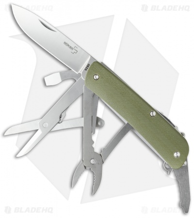 "Boker Plus Tech-Tool Outdoor 4 Pocket Knife Multi-Tool (2.75"" Polish) 01BO816"