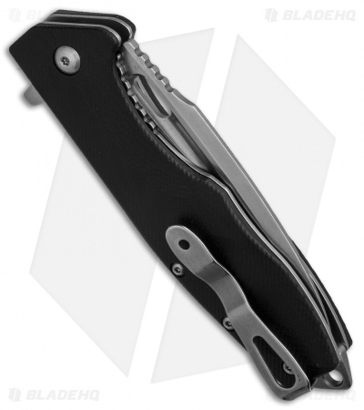 "Boker Plus Caracal Flipper Liner Lock Knife Black G-10 (3.5"" Stonewash) 01BO771"
