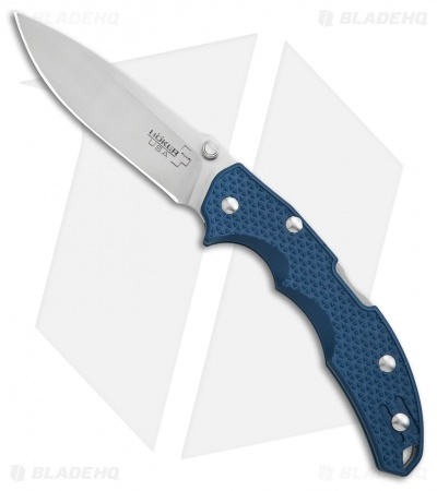 "Boker Plus Patriot Lock Back Knife Gunmetal Blue GFN (3.4"" Satin) 01BO374"