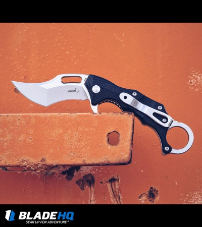 "Boker Plus Wildcat Karambit Liner Lock Flipper Knife (2.8"" Satin) 01BO772"
