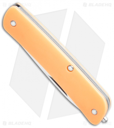 "Boker Plus Tech-Tool City 1 Slip Joint Knife GITD Orange 1(2.75""  Satin) 01BO847"
