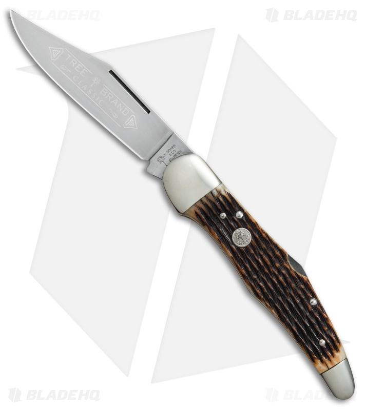 boker tree brand l e hunter lockback pocket knife 5 25 honeycomb
