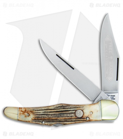"Boker Tree Brand L.E. Trapper Double Lockback Pocket Knife 5.25"" Stag"