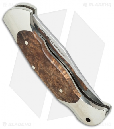 "Boker Scout 30th Anniversary Lockback Knife Amboina Wood (3.125"" Polish)"