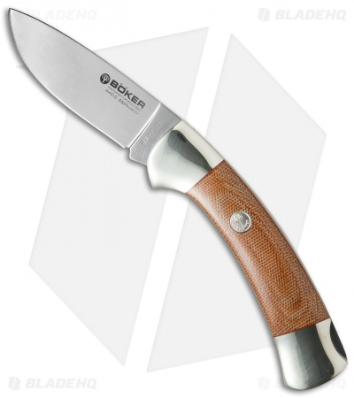 "Boker 3000 Lockback Knife Brown Micarta (3.375"" Polish) 115000"