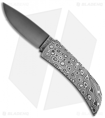 "Boker Special Run Damascus Lockback Folder Knife (2"" Black Mirror) 112031DAM"