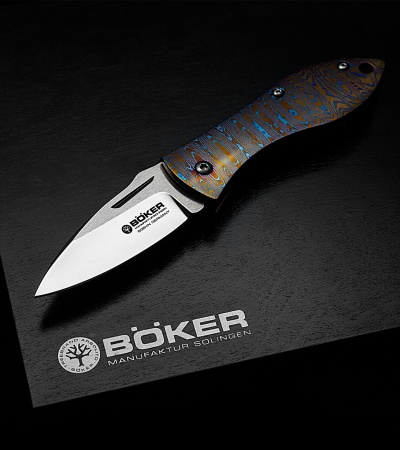 "Boker Thorn Special Run Mokuti Frame Lock Knife (2.6"" Satin) 113210"