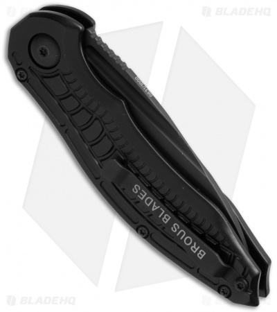 "Brous Blades Bionic Automatic Knife Blackout (3"" Black)"