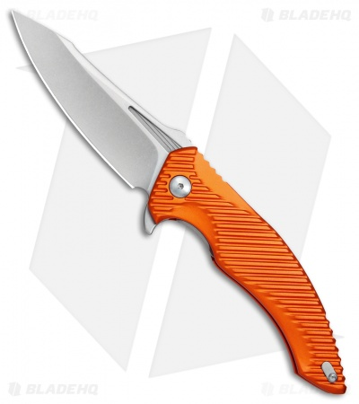 "Brous Blades Tanium Design T4 Flipper Knife Orange Aluminum (4"" Stonewash)"