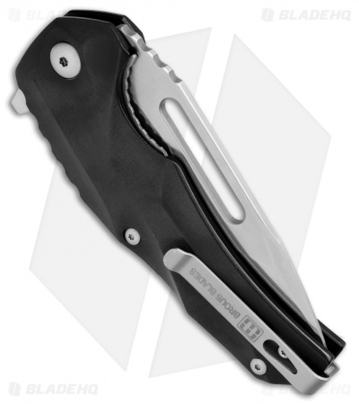 "Brous Blades & Mikkel Willumsen Reloader Flipper Knife Black Al (3.6"" Satin)"
