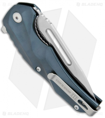 "Brous Blades & Mikkel Willumsen Reloader Flipper Knife Blue Al (3.6"" Satin)"
