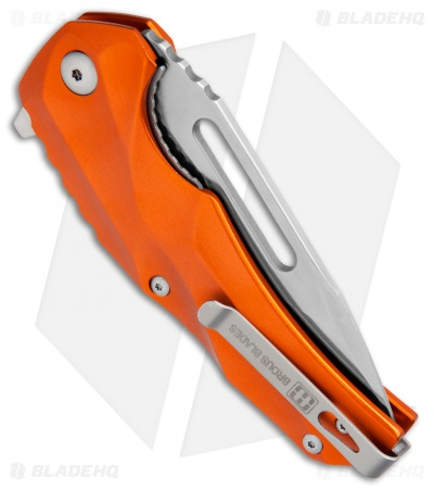 "Brous Blades & Mikkel Willumsen Reloader Flipper Knife Orange Al (3.6"" Satin)"