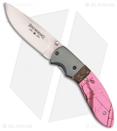 "Browning For Her Liner Lock Knife Pink Aluminum (2.75"" Satin) 322894"