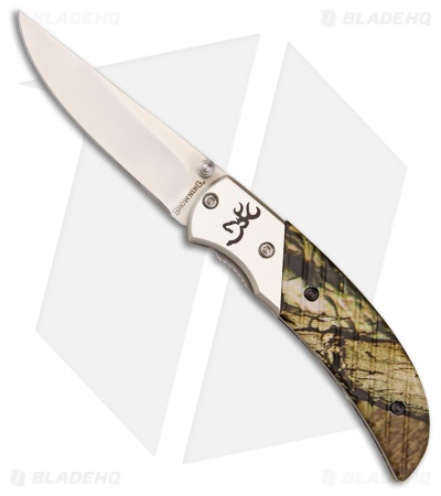 "Browning Prism II Liner Lock Knife Mossy Oak (2.5"" Satin) 3225672"