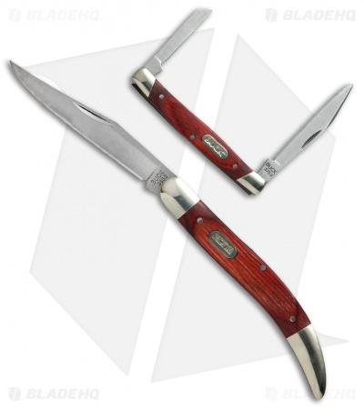 Buck Large Toothpick &  Deuce  Red Wood Pocketknives Combo Tin  CMBO129TS-C