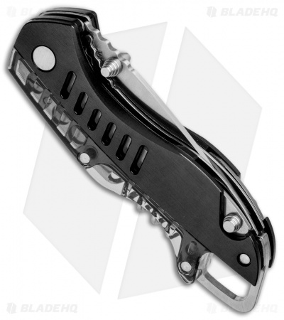 "Buck Summit Liner Lock Knife Multi-Tool Black (2.5"" Satin Serr)"