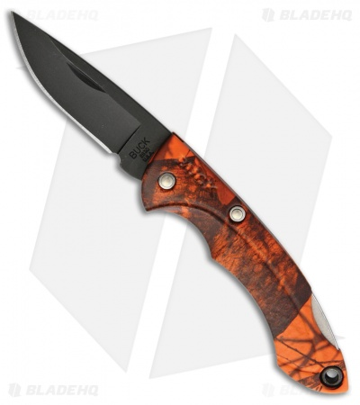 "Buck Nano Bantam Lockback Knife Orange Camo (1.875"" Black)"
