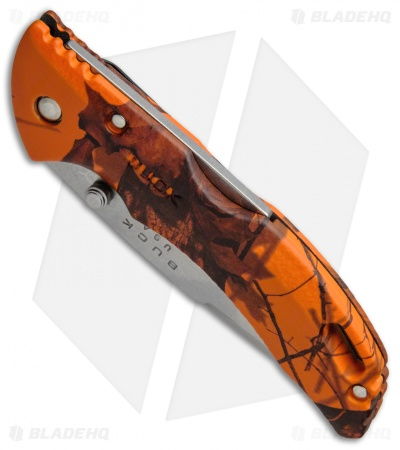 "Buck Bantam BLW Knife Mossy Oak Orange Camo (3.125"" Satin Plain) 0285CMS9"