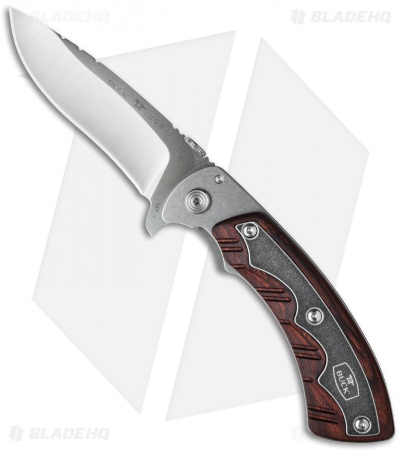 "Buck 547 Open Season Folding Skinner Knife Dymondwood (3.5"" Satin) 0547RWS"