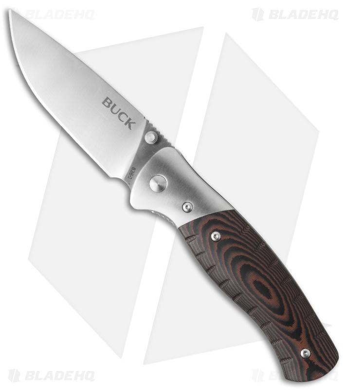 Buck Large Folding Selkirk Knife Micarta w/ Ferro Rod (3 25