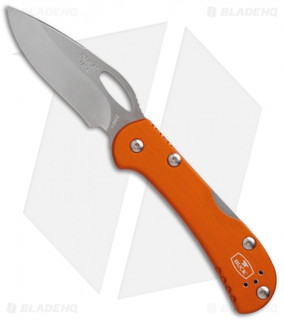 "Buck Mini SpitFire Lockback Knife Orange (2.75"" Satin) 0726ORS"