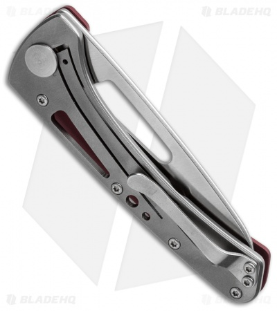 "Buck Vertex Frame Lock Knife Red Aluminum (3"" Full Serr) 0418RDX-B"