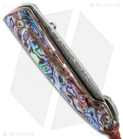 "Buck n Bear Abalone Shell Folder (2.75"" Damascus) 388136"
