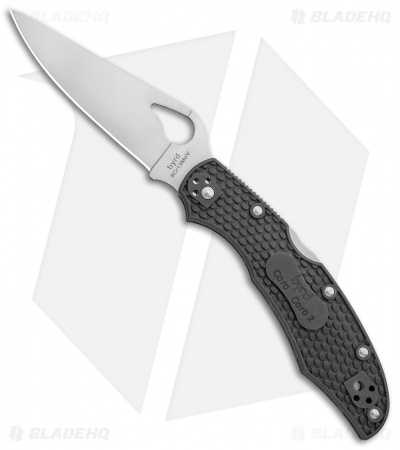 "Byrd Cara Cara 2 Lockback Knife Gray FRN (3.75"" Satin) BY03PGY2"