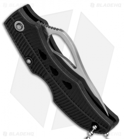 "Byrd Finch Lock Back Knife Black G-10 (1.875"" Satin Serrated) BY11SBK"
