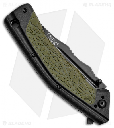 "Camillus Titan FK-7 Liner Lock Knife Green FRN (2.75"" Black)"