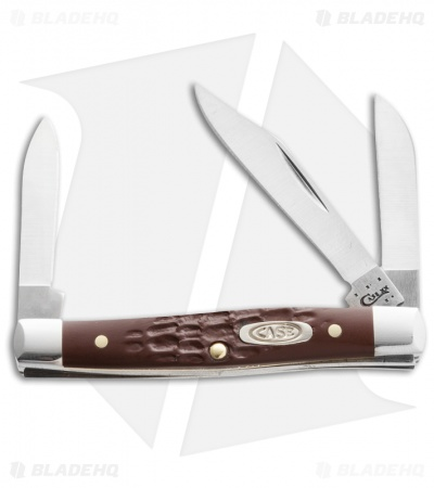 "Case 081 Working Small Stockman Knife 2.625"" Brown Synthetic (6333 SS)"