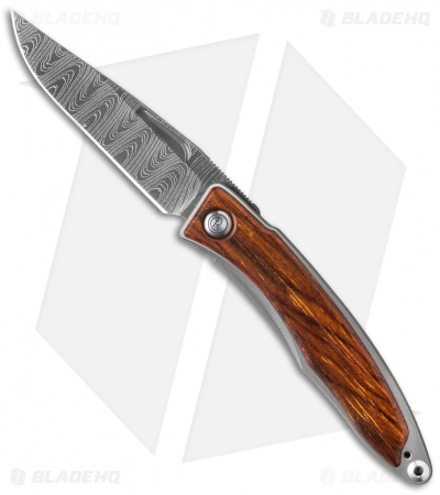 "Chris Reeve Mnandi Folding Knife Cocobolo (2.75"" Ladder Damascus)"
