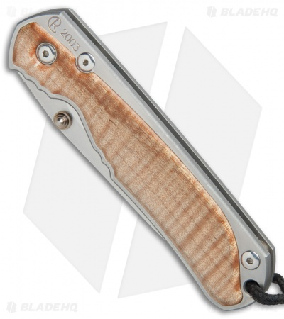 "Chris Reeve L21 Annual 2003 Knife Curly Maple (3.625"" Satin)"