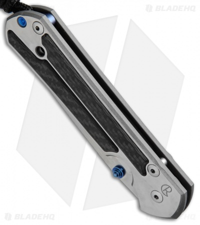 "Chris Reeve Large Sebenza 21 Insingo Knife Left-Hand Carbon Fiber (3.6"" SW)"