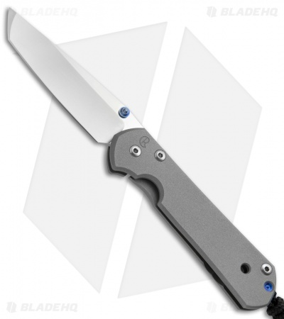 "Chris Reeve Small Sebenza 21 Tanto Frame Lock Knife (2.94"" Stonewash)"