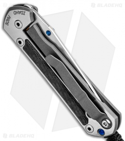 "Chris Reeve Small Sebenza 21 Tanto Knife w/ Carbon Fiber Inlays (2.94"" SW)"