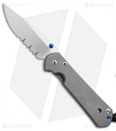"Chris Reeve Small Sebenza 21 Knife (2.94"" Stonewash Serr)"