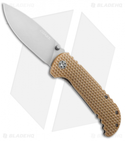 "Coast FX350 Frame Lock Knife Brown G-10 (3.5"" Gray)"