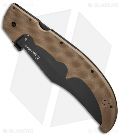 "Cold Steel Espada XL Lock Back Knife Flat Dark Earth G-10 (7.5"" Black) 62NGXVF"