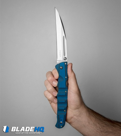 "Cold Steel Frenzy II Tri-Ad Lock Knife  Black/Blue G-10 (5.5"" Satin) 62P2A"