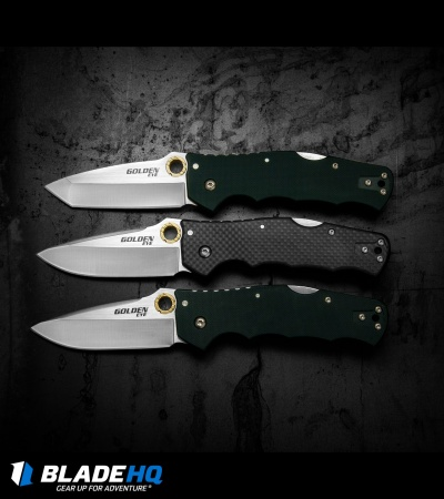 Cold Steel Golden Eye Spear Point Tri-Ad Lock Knife Forest Green G-10 62QFGS